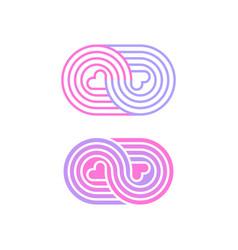Modern minimalistic logo for print or application vector