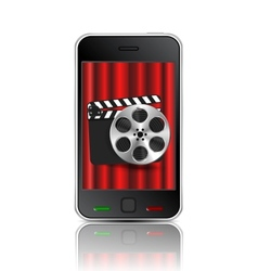 movie phone vector image
