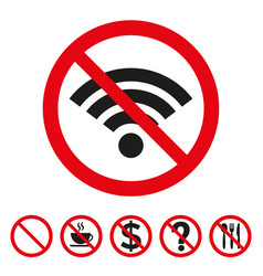 No wi-fi sign on white background vector