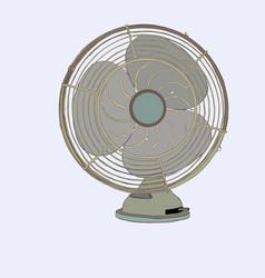 old vintage fan sketch vector image