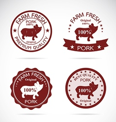 Pig label vector