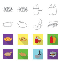 Pizza and food sign vector