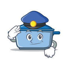 police kitchen character cartoon style vector image