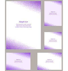 Purple mosaic page corner design templates vector