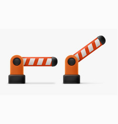 Realistic cartoon barrier gate colorful vector