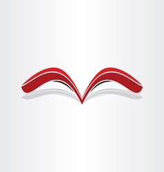 red book abstract stylized design vector image