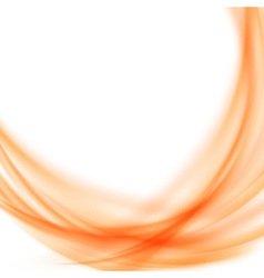 Satin abstract orange smooth background vector image vector image
