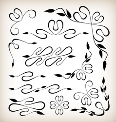 Set of art deco design elements vector image