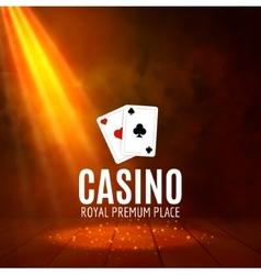 Shining Casino Banner Poster Show spotlight vector image