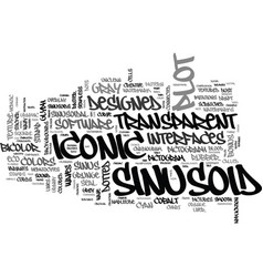 Sinusoid word cloud concept vector