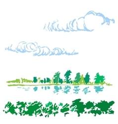 Sketch of nature landscape vector