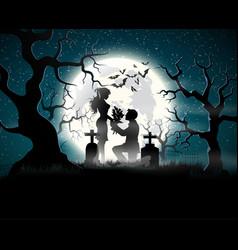 Soul lovers in moonlight vector
