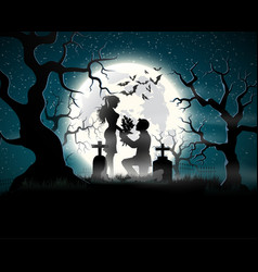 Soul lovers in the moonlight vector