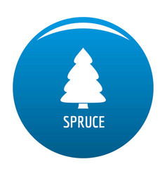 spruce tree icon blue vector image