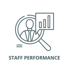 Staff performance line icon linear concept vector