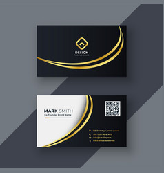 stylish golden creative business card design vector image