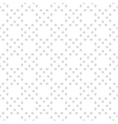 Subtle ornamental seamless pattern small rhombuses vector