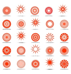 Sun and star icons vector
