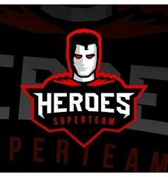 Superhero logo sport style vector