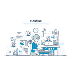 Time management planning business objectives vector
