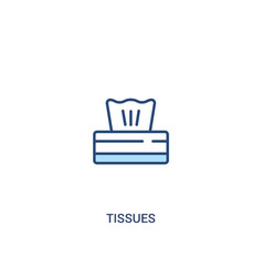 Tissues concept 2 colored icon simple line vector