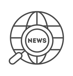 world news linear icon vector image