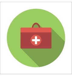 Doctor bag flat icon vector image vector image