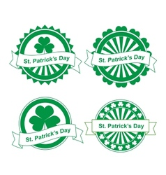 Grunge st Patricks day stamps vector image