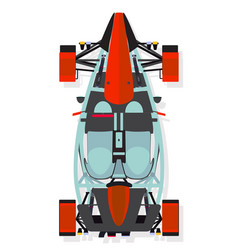 red sport car buggy top view in flat style vector image vector image