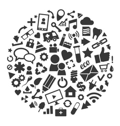 Social media background of the icons vector