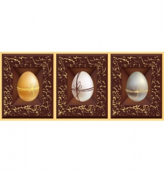 3D eggs vector image