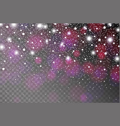 abstract shiny violet sparkles and flares effect vector image