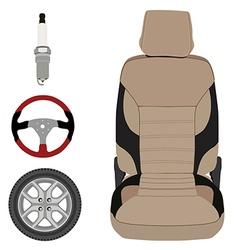 Auto parts icons vector image vector image