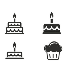 cake icon set vector image