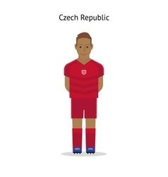 Football kit Czech Republic vector image vector image