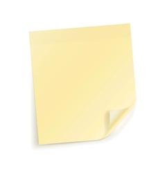 Note sticky Sheet vector image