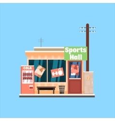 Sports Hall Front vector image