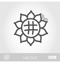 Sunflower outline icon Harvest Thanksgiving vector image vector image