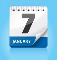 calendar icon | blue vector image