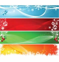 Christmas headers vector image vector image