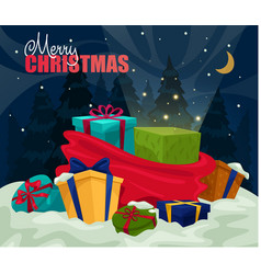 new year or merry christmas holiday card vector image