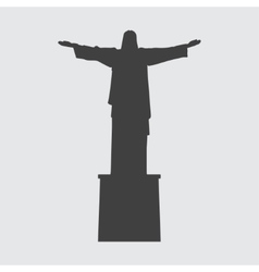 Statue of Christ the Redeemer icon vector image vector image