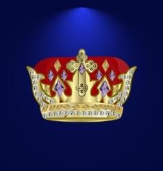 tiara with precious stones vector image vector image