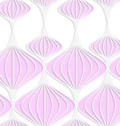 White colored paper pink Chinese lanterns vector image vector image