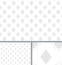 White Vintage Poker Diamond Distressed Background vector image vector image