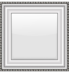 Empty silver picture frame vector image vector image
