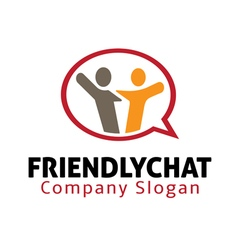 Friendly Chat Design vector image