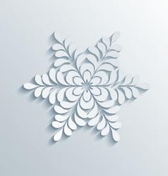 Holiday 3D Snowflake vector image vector image