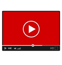 Modern flat video player interface eps vector image