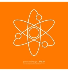 Stock Linear icon atom vector image